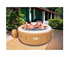Beliani Whirlpool braun Outdoor aufblasbar PALM SPRINGS