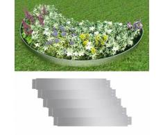 vidaXL Flexible Rasenkante 5-er Set 100x15 cm Verzinkter Stahl