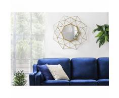 Beliani Wandspiegel gold 69 x 80 cm GAILLAC