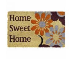 vidaXL Fußmatte Kokosfaser 15 mm 40x60 cm Home Sweet Home