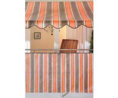 Balkonsichtschutz orange/braun (in 2 Höhen)