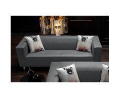 Collection AB Pfiffiges 3-Sitzer-Sofa, mit 2 lustigen Hunde-Zierkissen