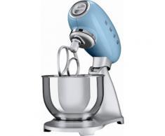 smeg Küchenmaschine SMF01PBEU, Pastellblau, 4,8 Liter, 800 Watt, Aluminium Druckguss lackiert