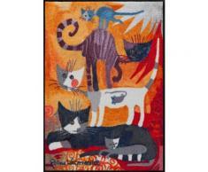 Fußmatte »Katzenturm«, Rosina Wachtmeister, rechteckig, Höhe 7 mm, waschbar, In- und Outdoor, mit Katzenmotiv
