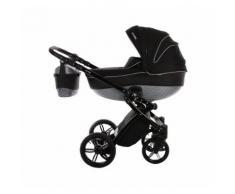 knorr-baby Kombi Kinderwagen Alive Be Carbon mit Wickelkoffer, schwarz/