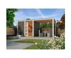 KARIBU Gartenhaus »Cubussi«, BxT: 246x246 cm, inkl. Anbau (ca. 240 cm breit)
