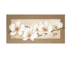 Artland Wandbild »Botanik Blumen Orchidee Malerei Creme«
