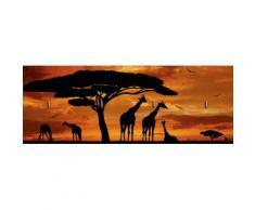 Home affaire Schlüsselbrett »vencav: Herde von Giraffen im Sonnenuntergang«, 40/14,8 cm