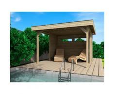 WOLFF FINNHAUS Set: Holzpavillon »Elba«, BxT: 350x352 cm, inkl. Wände