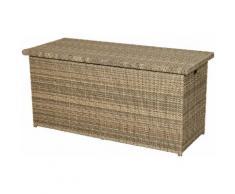 PLOSS Kissenbox »Rabida«, 145x73x58 cm, Polyrattan, naturfarben-braun