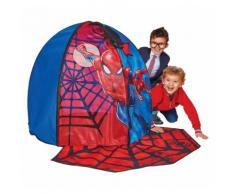 WORLDS APART Spielzelt, Spiderman, mit Türmatte, rot