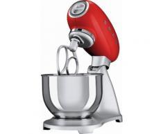 smeg Küchenmaschine SMF01RDEU, Rot, 4,8 Liter, 800 Watt, Aluminium Druckguss lackiert