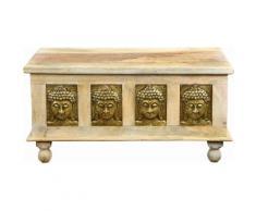 The Wood Times Truhen-Couchtisch «Buddha», Breite 120 cm