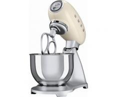 smeg Küchenmaschine SMF01CREU, Creme, 4,8 Liter, 800 Watt, Aluminium Druckguss lackiert