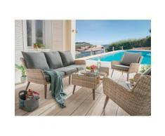 DESTINY Loungeset »Cortez«, 14-tlg., 3er-Sofa, 2 Sessel, Tisch, Polyrattan, beige