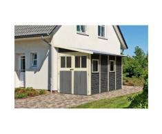 KARIBU Gartenhaus »Wandlitz 4«, BxT: 181x352 cm