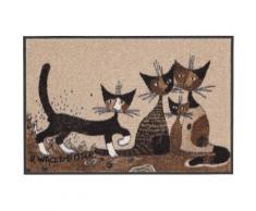 Fußmatte »Serafino&Friends«, Rosina Wachtmeister, rechteckig, Höhe 6 mm