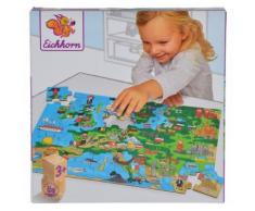 Eichhorn Holzpuzzle 40 Teile - Europakarte
