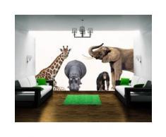 Bilderwelten Wandtattoo »Affe Elefant Giraffe No.406 African Safari Set«