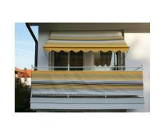 ANGERER FREIZEITMÖBEL Balkonsichtschutz , Meterware, gelb-grau gestreift