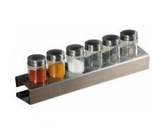 KESPER for kitchen & home Gewürzständer, (6-tlg), Metall, zum individuellen Befüllen