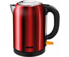 Unold AG Wasserkocher Bullet, 1,7 Liter, 2.200 Watt, red-metallic