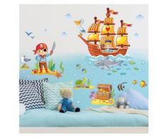Bilderwelten Wandtattoo Kinderzimmer »Piraten Set«