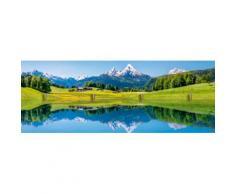 Home affaire Schlüsselbrett »canadastock: Panora einer Landschaft in den Alpen«, 40/14,8 cm