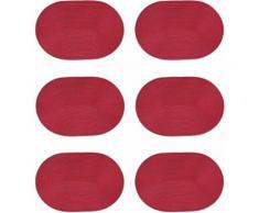 Zeller Present Platzset, oval, 30 x 46 cm (6tlg.)