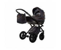 knorr-baby Kombi Kinderwagen Alive Be Carbon, dunkelgrau-orange