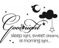 Wandspruch, Home affaire, »Goodnight sleep tight….«