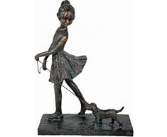 Home affaire Dekofigur »Frau geht mit Hund spazieren, Bronzefigur-farbig, Höhe 27 cm«