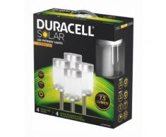 Duracell LED Solar Gartenlampe 4er Pack »GL024NP4DU 7,5 Lumen«