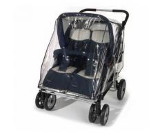 reer Universal Regenschutz für Zwillingskinderwagen