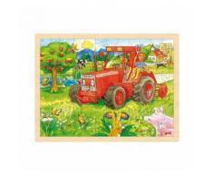 goki Holzpuzzle 96 Teile Traktor