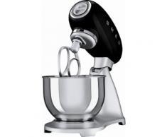 smeg Küchenmaschine SMF01BLEU, schwarz, 4,8 Liter, 800 Watt, Aluminium Druckguss lackiert