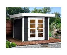 Weka Gartenhaus »Chill-Out Gr. 3«, BxT: 295x300 cm, anthrazit/weiß