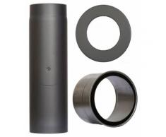 COLOR EMAJL Rauchrohr »Set 350 mm Länge in Grau«, Ø 130 mm, Ofenrohr für Kaminöfen