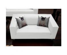 Collection AB Pfiffiges 2-Sitzer-Sofa, mit 2 lustigen Hunde-Zierkissen