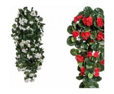 Kunstpflanze »Geranien-Hänger«, Höhe 120 cm, rot