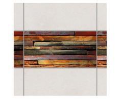 Bilderwelten Fliesen Bordüre Set 30x60 cm »Bretterstapel«