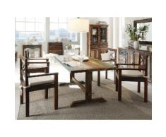 massivum Tischgruppe aus Hartholz massiv »Cruzar«