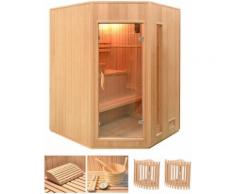 HOME DELUXE Elementsauna »Relax XL«, 150/150/200 cm, 50 mm, 4,5-KW-Ofen, int. Strg.