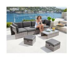 KONIFERA Loungeset »San Sebastian«, 19-tlg., 2 Sessel, 2er-Sofa, 2 Hocker, Tisch, Polyrattan