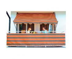Balkonsichtschutz braun/orange (in zwei Höhen)