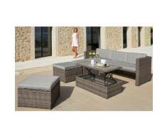 KONIFERA Loungeset »Lagos Premium«, 13-tlg., 3er-Sofa, 3 Hocker, Tisch, Polyrattan