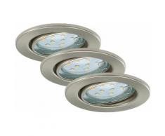LED Einbauleuchten »Fit«, 3W, matt-nickel