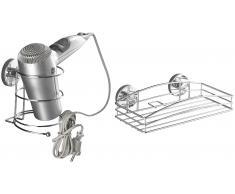 Haartrockner-Halter »Vacuum-Loc Haartrocknerhalter und Wandablage«
