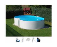 Clear Pool Set (6-tlg.): Achtformpool inkl. Sandfilteranlage (in 3 Größen)