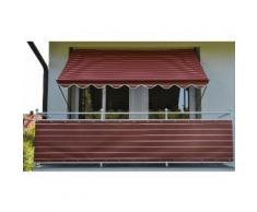 Balkonsichtschutz »Polyacryl, weinrot/weiß« in 2 Höhen